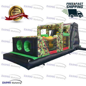 26x8.2ft Commercial Inflatable Military Course Obstacle Bouncer With Air Blower