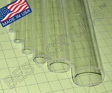 1 Od X 34 Id X 12 Inch Long Clear Acrylic Tube Plexiglass Lucite 1 Diameter
