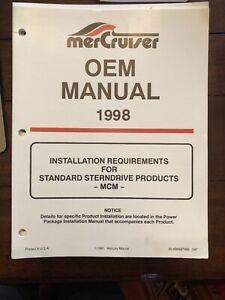 Mercruiser Marine Engine OEM Product Installation Manual MCM 1998