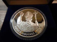 Silbermedaille Papst Pope papież Johannes Paul II 1987 Karol Józef Wojtyła