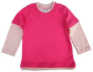 SALE ITEM 5 pack of Layered Skater Tops in Fuchsia & Pale Pink Size 12-18 Months
