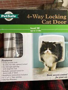PetSafe 4-Way Security Locking Cat/Dog Door For Small PPA00-11325 NIB