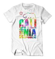 Proud By JCM - Cali For Nia California Bear Republic Men's Tee Rainbow T-Shirt