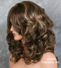 Beautiful Wavy Curly Layered Full Wig Brown and Blonde mix JSBD 8-12-24