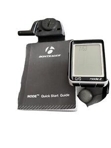 Bontrager Node 2 Cycling Computer with Garmin Speed/Cadence Sensor and Mount