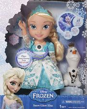 Disney Frozen Snow Glow Elsa Princess Doll Dress Lights Up Sings Let It Go Olaf