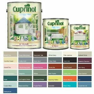 Cuprinol Garden Shades Paint for Furniture, Fence Panels & Sheds - All Colours