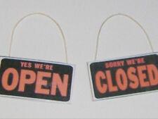 1:12 American Diner Open/Closed Tafel zum Aufhängen 1 Stück!