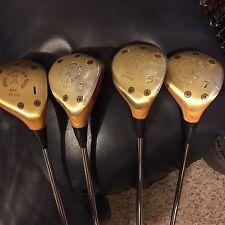 Ping Zing Blond Woods Set Golf Clubs 1,3,5,7-Woods KT-M Shafts VG Orig Cond