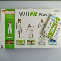 Nintendo Wii Fit Plus with Balance Board Bundle 2 Games Manual Tested Clean