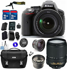 Nikon D5300 DSLR KIT- 18-140mm DX VR, TELE & WIDE AUX LENSES & NIKON BAG