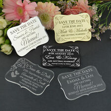 "Personalised Favours Wedding ""Save the Date"" Fridge Magnets - Mini Invitations"