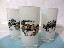 Gay Fad Classic Automobile Tumblers Set of THREE! FREE SHIPPING