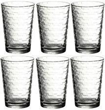 Pasabche Brick Design Glass Tumbler Set Stackable Juice Water Glasses Set of 6
