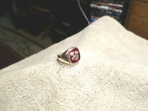 HEAVY LOOM LOYAL ORDER OF THE MOOSE RUBY RING-10K SOLID GOLD-Size10-AWESOME!!