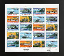 "US # 3095b (1996) 32 cent ""Riverboats"" - Sheet of 20 - EFO: Die cutting skips"