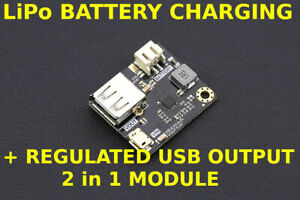 MP2636 Power Booster + LiPo Battery Charger Module 2 in 1 USB module for arduino