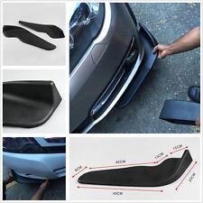 2 x Car Bumper Spoiler Decorative Scratch Resistant Wing Black ABS Front Shovel