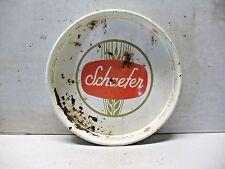 """Old Vintage Tin Schaefer Beer Tray Server 13"""" 1960s"""