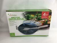 Chef Ventions 4 pcs Stone Finished Wok Set New in Box