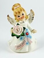 Vintage Lefton Angel 6224 January Birthday