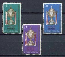 38195) INDONESIA 1964 MNH** Thomas cup 3v Badminton