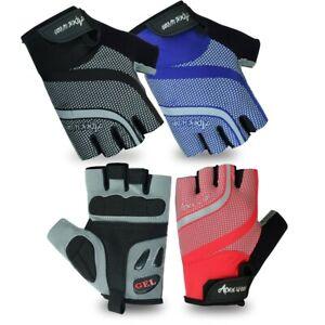 Apex wear Men Cycling Gloves Bike Half Finger Bicycle Padded Fingerless Sports