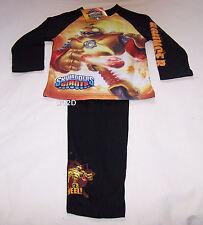Skylanders Giants Bouncer Boys Black Printed Pyjama Set Size 6 New