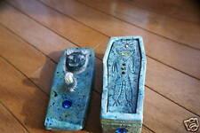 Hamster Coffin Swarovski and sterling silver pottery