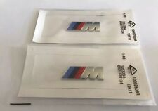 2 x Bmw Silver M SPORT Small Side Wing Badge 3D Logo Metal M Tech 1 3 5 6 7 UK
