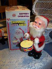 Vintage Battery Operated Korea Jamina Drumming Happy Santa Boxed WORKS !!!!