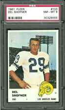 1961 Fleer #103 Del Shofner PSA 8 Los Angeles Rams ..