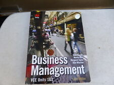 Business Management VCE 1 & 2 Barrile textbook 8th Edition DVD CD