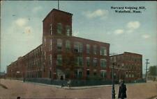 Wakefield MA Harvard Knitting Mill c1910 Used Postcard