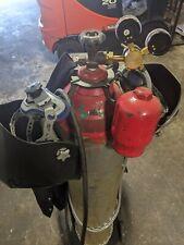 4-way Steel Welding Hanger Kit Tank Hanger Bottle MIG TIG Oxygen Acetylene Argon