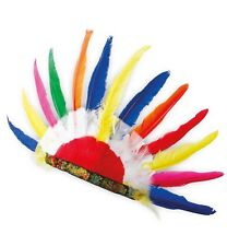 Indianer Kopfschmuck mit Federn Kostüm Zubehör Stirnband Federhaube 126485113