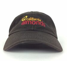 California Almonds Embroidered  Brown Baseball Cap Hat Adjustable Adult Size