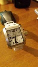 orologio uomo Animoo con datario bracciale pelle bianca cronolook luxury