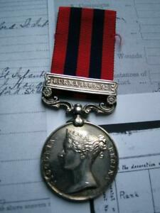 Victorian India GSM Medal Burma 1889 Pte Andy Bull Oxford LI from Hanslope Bucks