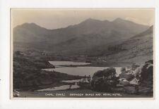 Capel Curig Snowdon Range & Royal Hotel RP Postcard 266a