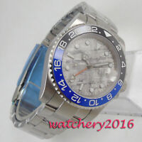40mm Bliger Grey Sterile Dial GMT Date Sapphire Automatic Movement mens Watch
