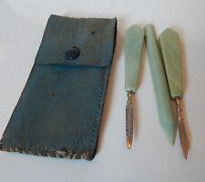 Vintage celluloid handle Nail care set 1940's