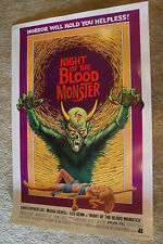 NIGHT OF THE BLOOD MONSTER  JESS FRANCO  SEXY  HORROR  40 X 60 1972