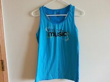 "Zumba turquoise ""Feel the Music"" tank - womens XL - armpit to armpit = 16.5"""