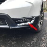 Fit Honda CRV CR-V 2017 2018 2019 2020 Front Fog Light Lamp Cover Trim Chrome