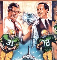 """Super Bowl I Green Bay Packers Lithograph Large REPRINT 11""""x14"""""""