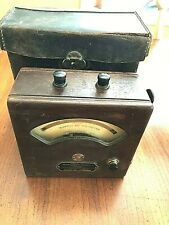 Vtg Ac Voltmeter Weston Electrical Instrument Company Model 155 Withleather Case