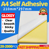 Printable Sticker Paper A4 GLOSSY Self Adhesive Address Sheet Laser Label