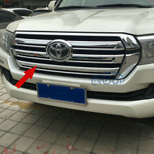 Fit Toyota Land Cruiser LC200 2016 2017 Chrome ABS Car Front Grill Grille Trim