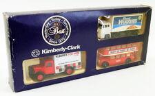 Lledo Diecast 3 Piece Set 8518 Bedford Van & Truck Bristol Bus - Kimberley Clark